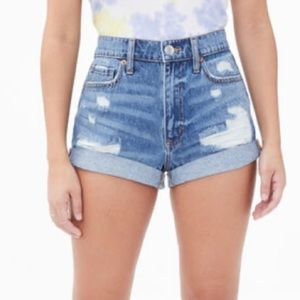Aeropostale Real Denim High-Rise Mom Shorts size 4